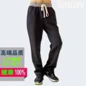 男士宽松加绒直筒运动裤