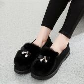 老北京布鞋女士秋冬新款加绒棉鞋
