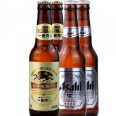 麒麟朝日超爽生鲜黄啤酒 330ml*4瓶