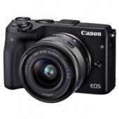 佳能(Canon)EOS M3 微型单电套机 黑色