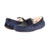 UGG Dakota 女士海军蓝毛绒乐福鞋 鳄鱼皮纹 ¥378