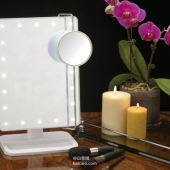 Jerdon 带LED灯可调台式化妆镜 Prime会员凑单免费直邮到手¥188