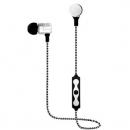 Photive EB-M500 金属涂层磁性无线耳塞 - 白色