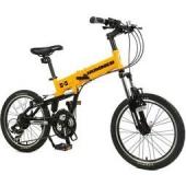 HUMMER悍马 折叠山地21速自行车 20寸 SP-2010F 沙漠黄