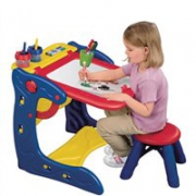 Crayola绘儿乐两用画架活动桌 儿童画板