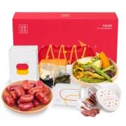 忆江南 茶食作坊 肉肠+猪肉铺+什锦果蔬脆+柠檬红茶+桂花龙井 缤纷礼盒 248g/盒