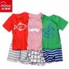 北极绒 儿童全棉短袖T恤套装 多款¥16.6包邮(¥18.6-2)