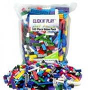 Click n' Play 500 片建筑砖块超值包 兼容lego