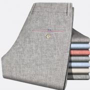 10点:萨拉帕奇 夏季薄款亚麻男裤直筒