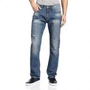 Lee 男式 724修身中腰直脚版型牛仔裤 LML724D01S25