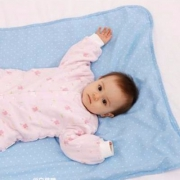 PurCotton 全棉时代 蓝底白点婴儿纱布加大隔尿垫70x90cm*2条