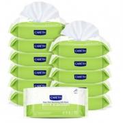CARETH 新日化三零 婴儿橄榄滋养卫生湿巾80片*12包 折25元(69.9元,双重优惠)