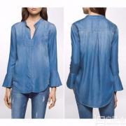 Calvin Klein Jeans 女士100%纯天丝牛仔上衣 $19.83