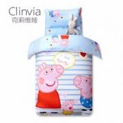 克莉维娅 小猪佩奇幼儿园全棉儿童被套120*150cm