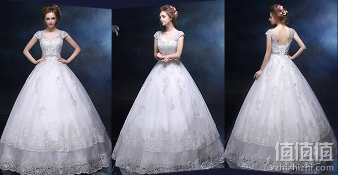 A字裙婚纱