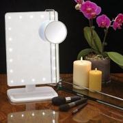 Jerdon 带LED灯可调台式化妆镜 Prime会员凑单免费直邮