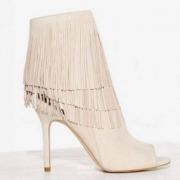 Sam Edelman 女士Arizona真皮流苏鱼嘴靴 2色  2.6折 $44.99