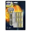 Gillette 吉列 锋隐 致护 顺贴球科技男士剃须刀,9 个刀片装。*2 *2件406元(合203元/件)