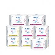 ABC 超薄隐形 棉柔透气卫生巾 9包组合