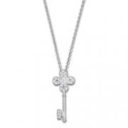 SWAROVSKI施华洛世奇四叶草钥匙密镶项链白金色 折379元(589,双重优惠)