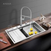 又大又厚,Asras 阿萨斯不锈钢水槽及水龙头开箱