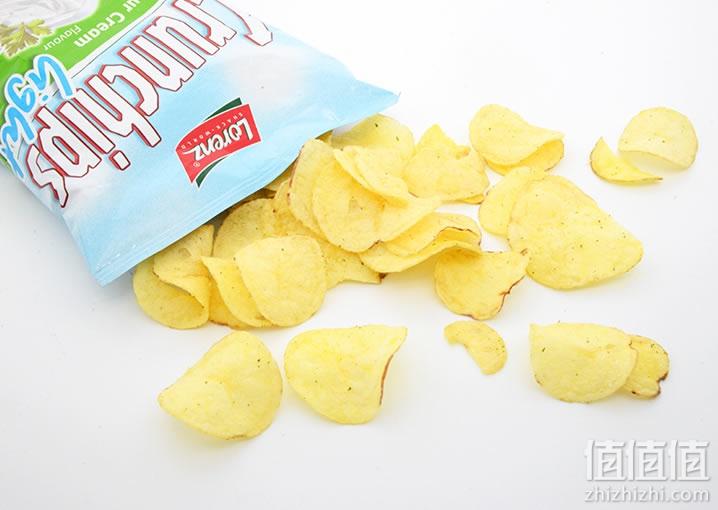 劳仑兹清新淡味酸奶油薯片