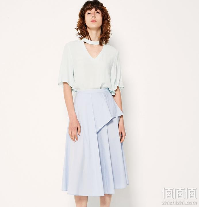 ASOBIO女式长款半身裙