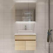 白色恋人 707 现代浴室柜组合 吊柜款