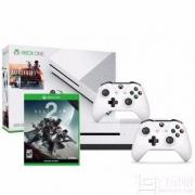 Microsoft 微软 Xbox One S 500GB 战地1同捆版主机套装(送《命运2》+额外手柄)