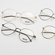 POP STAR 复古文艺圆型眼镜框