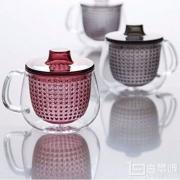 Kinto Unimug 玻璃马克杯 带茶滤 350ml 藏青色 Prime会员凑单免费直邮