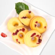 下午茶必备!喜福来 蔓越莓甜甜圈15个装 8.8元包邮(18.8-10券)