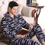 北极绒 男士 珊瑚绒睡衣 套装