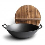 GUJI 古记 36cm无涂层 老式铸铁锅