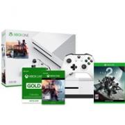 Microsoft 微软Xbox One S 500GB 游戏主机《战地1》同捆版+《命运2》+3个月金会员