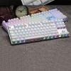 Rapoo雷柏 V500 冰晶版87键机械键盘开箱体验