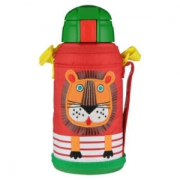 虎牌(Tiger)儿童保温杯卡通吸管杯MML-C06C-EL小狮子630ml