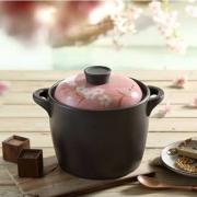 maxcook 美厨 3.5L手绘陶瓷砂锅 送防烫手套+防烫垫+汤勺