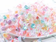 色彩缤纷!意萌 千纸鹤水果糖 混合口味水果味500g 9.9元包邮 (12.9-3)