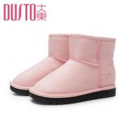 保暖舒适# 大东 秋冬女童加绒加厚雪地靴公主靴