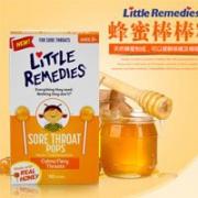 Little Remedies 儿童天然蜂蜜润喉棒棒糖 10支