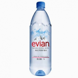 evian 依云 法国天然矿泉水 1000ml/瓶