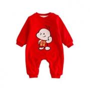 BARPUPAPA 婴儿加绒保暖连体衣