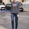 LEE女士时尚修身弹力牛仔裤 L29994AN47FL