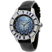 DIOR Christal 系列蓝色珍珠母贝镶钻机械奢华女表 113510A002