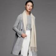 ALISSA CYRINE 女士纯色羊毛围巾