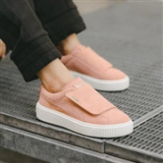 Puma 彪马 Suede Platform Strap女士经典系列厚底大魔术贴板鞋 粉色款