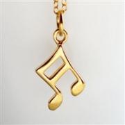 Lilycharmed金色音阶符项链