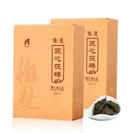 茶香绵长# 惟楚 湖南安化黑茶金花茯砖茶 400g23元包邮(98-75券)