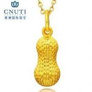 CNUTI 粤通国际珠宝 黄金吊坠 足金 花生 约1.2g